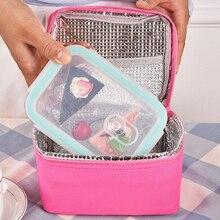 4 цвета Ланч портативный домашний Пикник пакет офис небольшой водонепроницаемый охладитель Bento Box бизнес поездки еда Термосумка практичная
