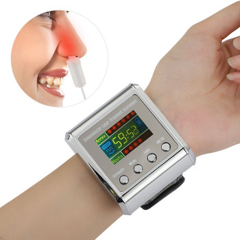 650nm Laser Therapy Wrist Low Frequency Diabetes Hypertension Cholesterol Treatment Diode LLLT Watch Laser Therapy Machine 1