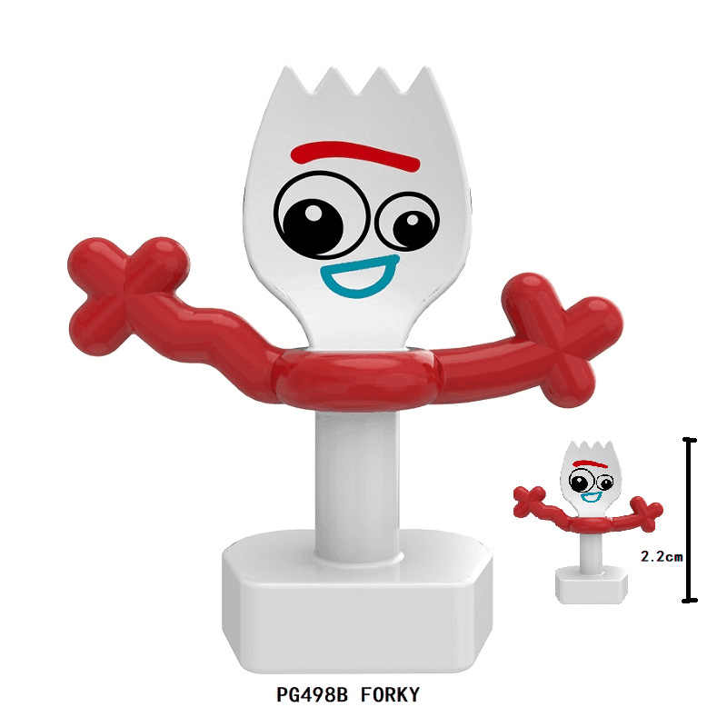 لعبة قصة 4 وودي جيسي الطنانة الخفيفة الكرتون الغريبة نموذج أرقام ألعاب مكعبات البناء للأطفال