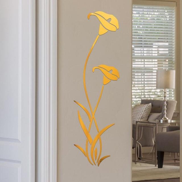 3D Diy Flower Shape Acrylic Wall Sticker Modern Stickers Decoration Living Room Removable Mural Wallpaper Art Decals Home Decor 6