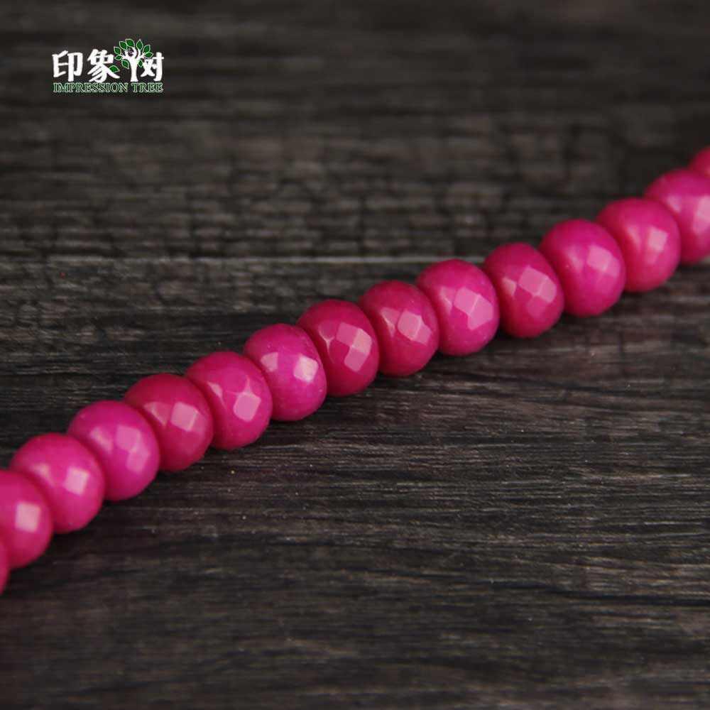 1 pc 12x8mm rosa amarelo plat contas redondas facetadas barril j ade solto grânulo feito à mão colar pulseira diy jóias fazendo 1843