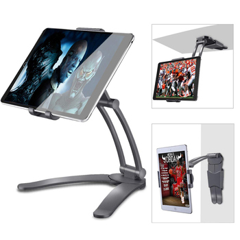 Universal Kitchen Tablet Stand Wall Desk Tablet Mount Stand Fit 360 degree Rotating Tablet Metal Bracket Smartphones Holders