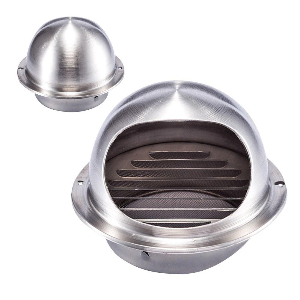 100/120/150/200/250 Mm Stainless Steel Exhaust Hood, Hood External Wall Vent Cap Ventilation Cap Air Ventilation Ventilation Fan