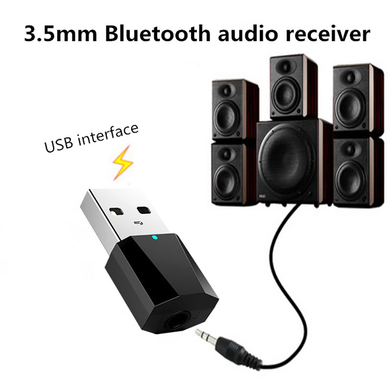 Portable Bluetooth 3 Audio Receiver Transmitter Min Stereo Bluetooth AUX RCA USB 3.5mm Jack For TV PC Car Kit Wireless Adapter