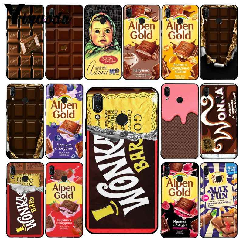 Yinuoda Wonka Bar Tiket Emas Alpen Emas Chocolate Phone Case untuk Xiaomi Redmi Note 7 5 4 Redmi 5 Plus 6A Note8 4X Note8Pro