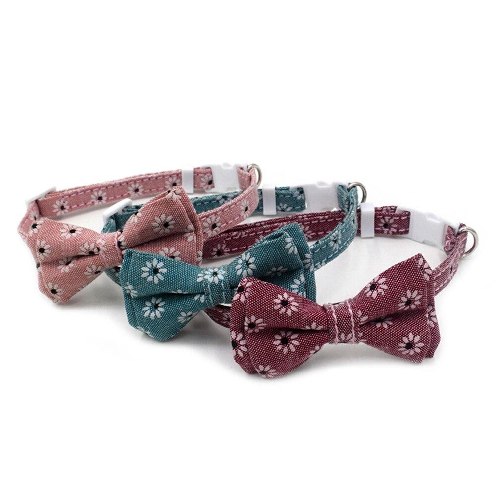 Купить ошейник для маленьких кошек из мягкой ткани с цветочным принтом