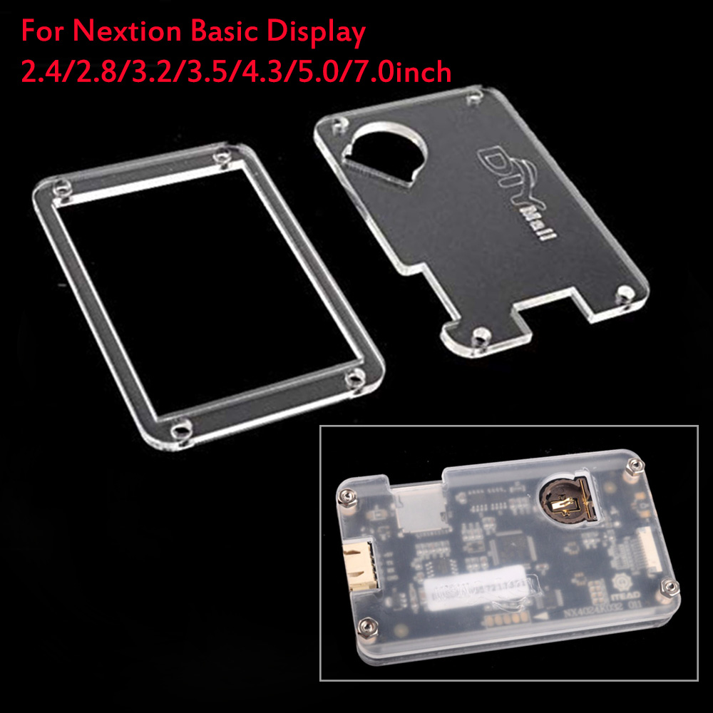 Acrylic Clear Transparent Case For Nextion Basic Touch Screen Display 2.4/2.8/3.2/3.5/4.3/5.0/7.0inch Nextion Transparent Case