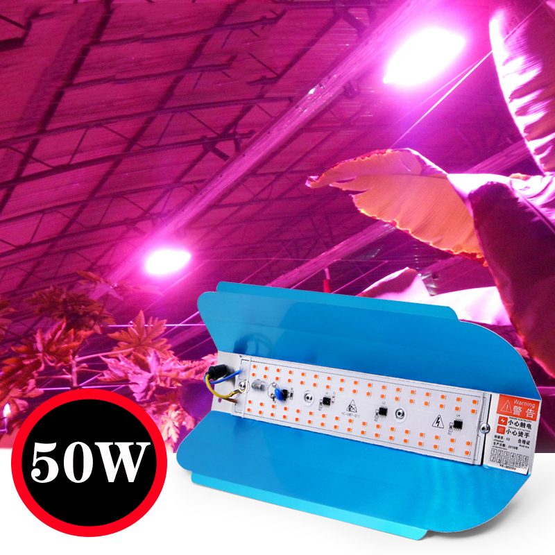 50W Plant Growth Tent Full Spectrum Uv Phyto  Lamp  LED  Light  Strip Simple Therapy Floodlight 220V For Plant Greenhouse