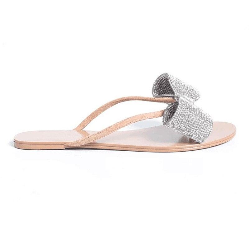 praia slides estilo simples cristal flip flops