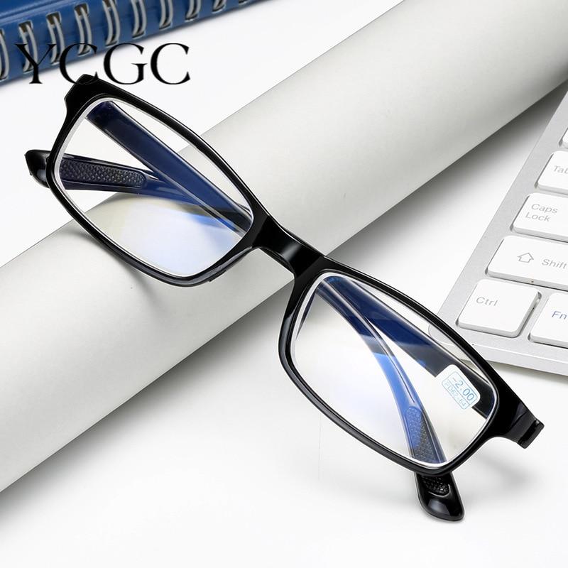 Blue Film Glasses Eye Protection Ultralight Anti Blue-ray Reading Glasses Anti-fatigue Glasses Eyewear Myopia Lens Frame Unisex