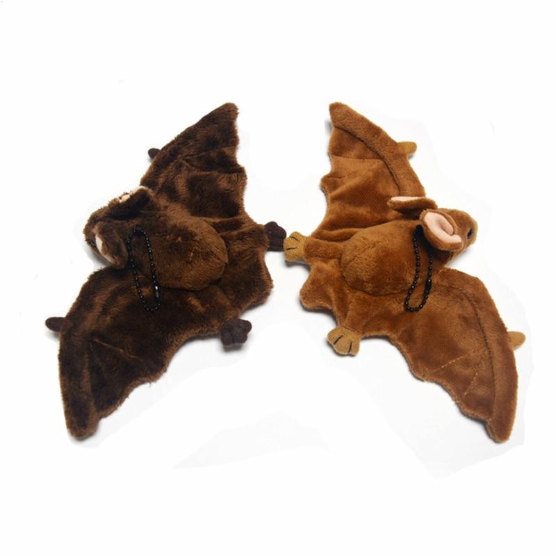 Real Life Dark Bat Plush Toy Realistic Wild Animals Stuffed Toys Lifelike Soft Light Bats Toy Birthday Gifts For Children