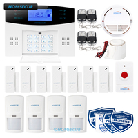 HOMSECUR APP Controlled Wireless 2G SMS Autodial Home Alarm System+SOS Intercom