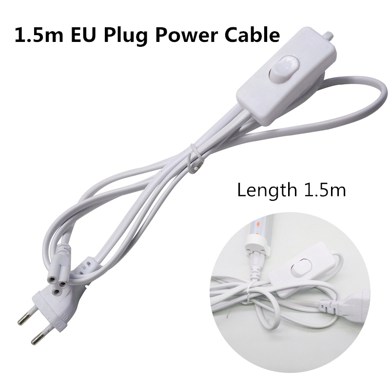 ReBlue Grow Light EU US Plug Power Cable Grow Lamp Connect Cables