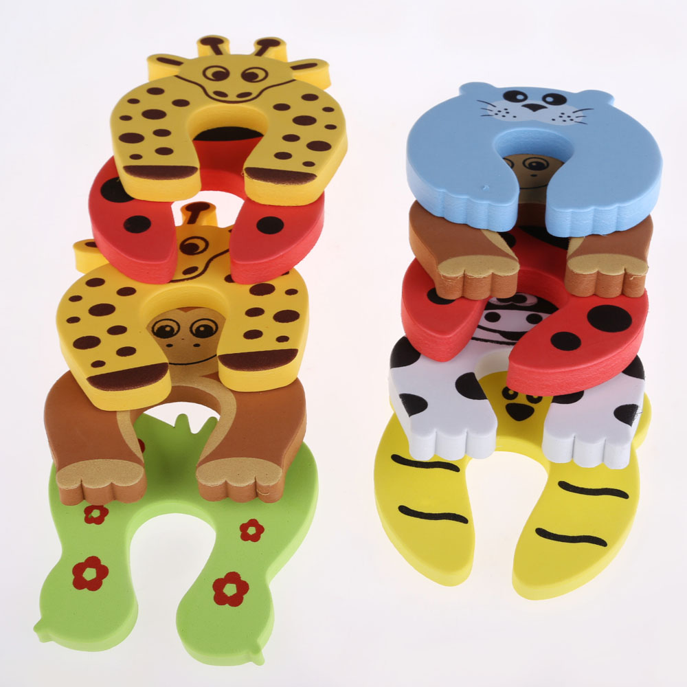 10pcs/lot Kid Baby Cartoon Animal Door Stopper Finger Protector Baby Safety