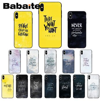 Rock lyrics High Quality Phone Case for iPhone 11 pro XS MAX 8 7 6 6S Plus X 5 5S SE XR case image