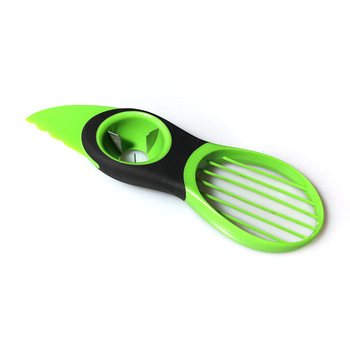 3 In 1 Avocado Slicer Peeler Cutter Tools Multifunction Fruit Splitter Plastic Knife Peeler Scoop Separator Tool Kitchen Gadget 2