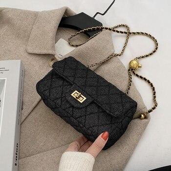 Quality Dennis Crossbody Bag for Women 2020 New Fashion Single Shoulder Messenger Chain Bags Ladies Fashionable Purses Channels недорого