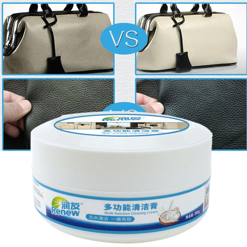 Household Leather Cleaner Multi-functional Cleaning Paste Car Seat Sofa Leather Shoe Descaling Decontamination Cleaning Cream image