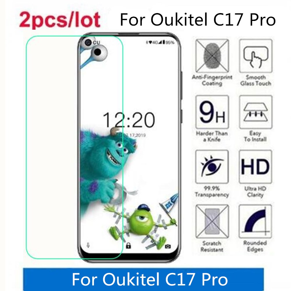 2 Pcs/Lot For Oukitel C17 Pro Tempered Glass 9H 2.5D Premium Screen Protector Film On For Oukitel C17 Pro
