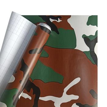 1PCS Film for Cars Woodland Camouflage Camo Offroad Car Sticker Decal Film Air Release Roll vinyl wrap sticker Car Accessories - image