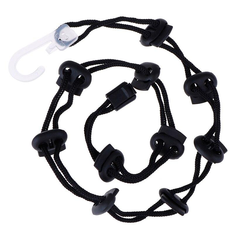 Носки Органайзер держатель для хранения висячая Нескользящая сушка бельевая веревка разделитель - Цвет: BK