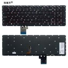 US klawiatura dla Lenovo Y50 Y50 70 Y70 70 U530 U530P U530P IFI podświetlany