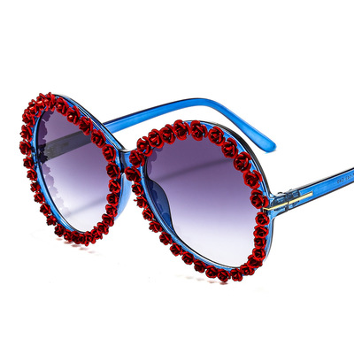 New Sunglasses Quality Metal For Couple Personality Sunglasses Fashion Retro Big Frame Modern Europe And America 2021 New Style