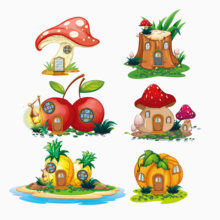 Fruit Vegetable House Metal Cutting Dies Tree Mushroom Pineapple Cherry Building Stencil For DIY Scrapbooking Card Decorative(China)