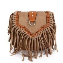Bohemian tassel messenger bag forest female new fashion retro shoulder frosted