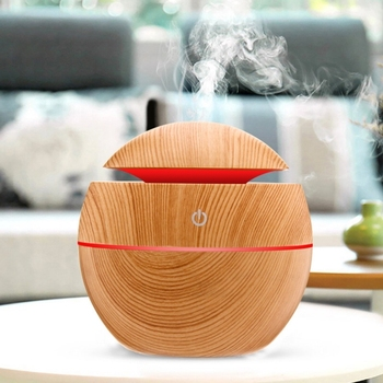 Electric Air Humidifier Essential Aroma Oil Diffuser Ultrasonic Wood Grain Humidifier USB Home Mini Mist Maker LED Light For funho 500ml air humidifier essential oil diffuser ultrasonic aromatherapy mist maker 7 color change led night light for home