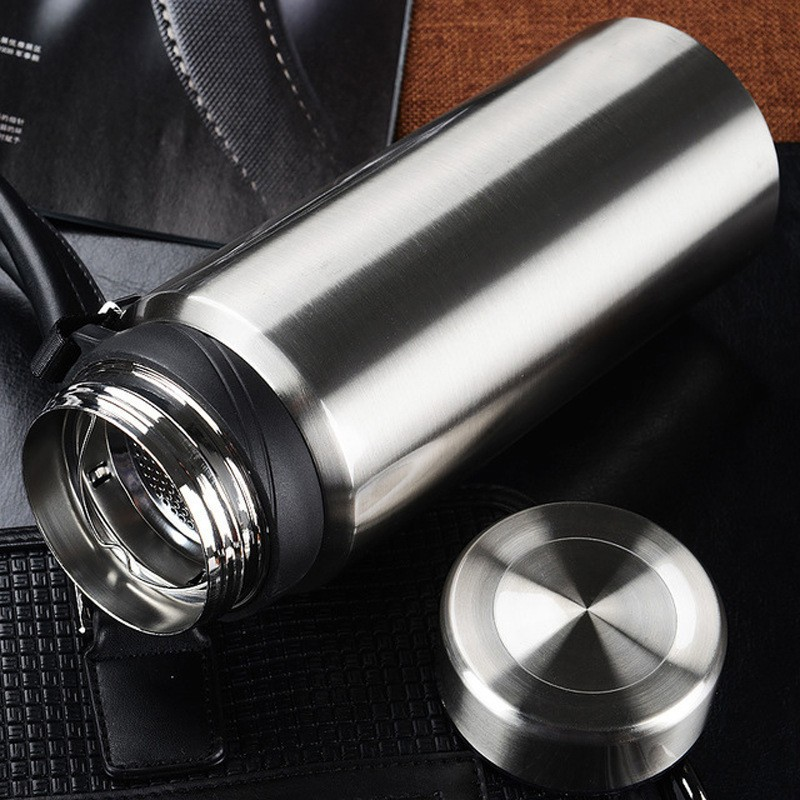 Large capacity 750 / 1000ML stainless steel thermos outdoor portable mobile sports bottle vacuum insulation pot