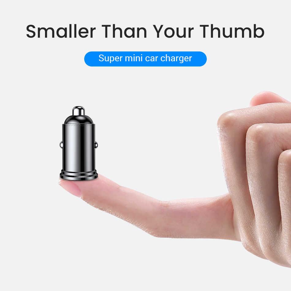 Fivi Mobil Charger Dual QC 3.0 Usb Charger Cepat Biaya untuk Samsung S8 S9 S10 Xiao Mi Mi 9 Huawei Mi ni USB Ponsel Charger Semua Logam