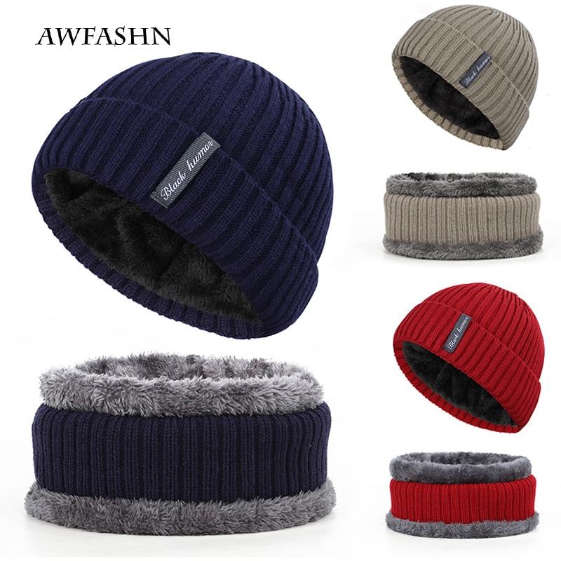 2019 Winter Cotton Cap Multicolor Unisex 2-piece Set Bib Warm Popular Custom Streetwear Wholesale Thicken Hedging Cap Knitbeanie