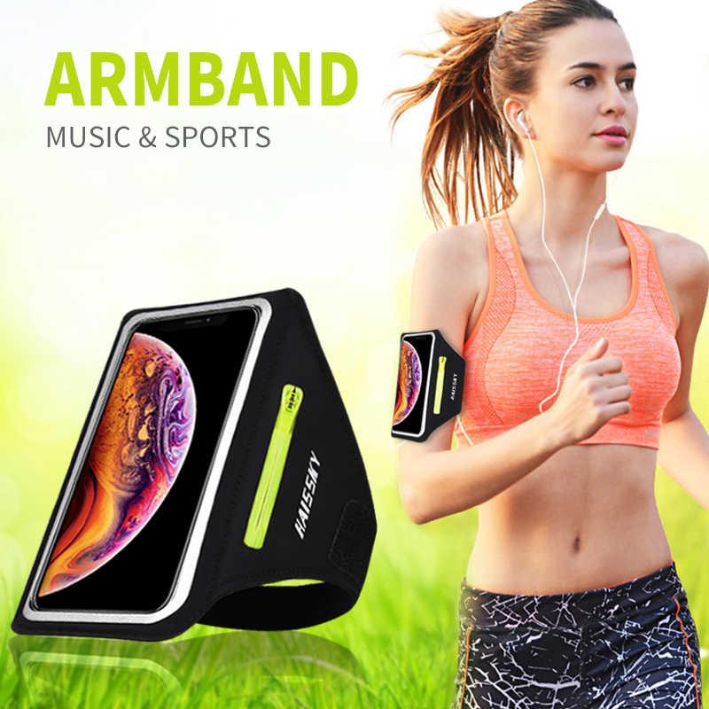 รองเท้าวิ่งกีฬาโทรศัพท์กรณีมือถือผู้ถือArmbandsสำหรับAirpods Pro iPhone 11 XS Max 7 Plus Samsung A51 กระเป๋าซิปแขน