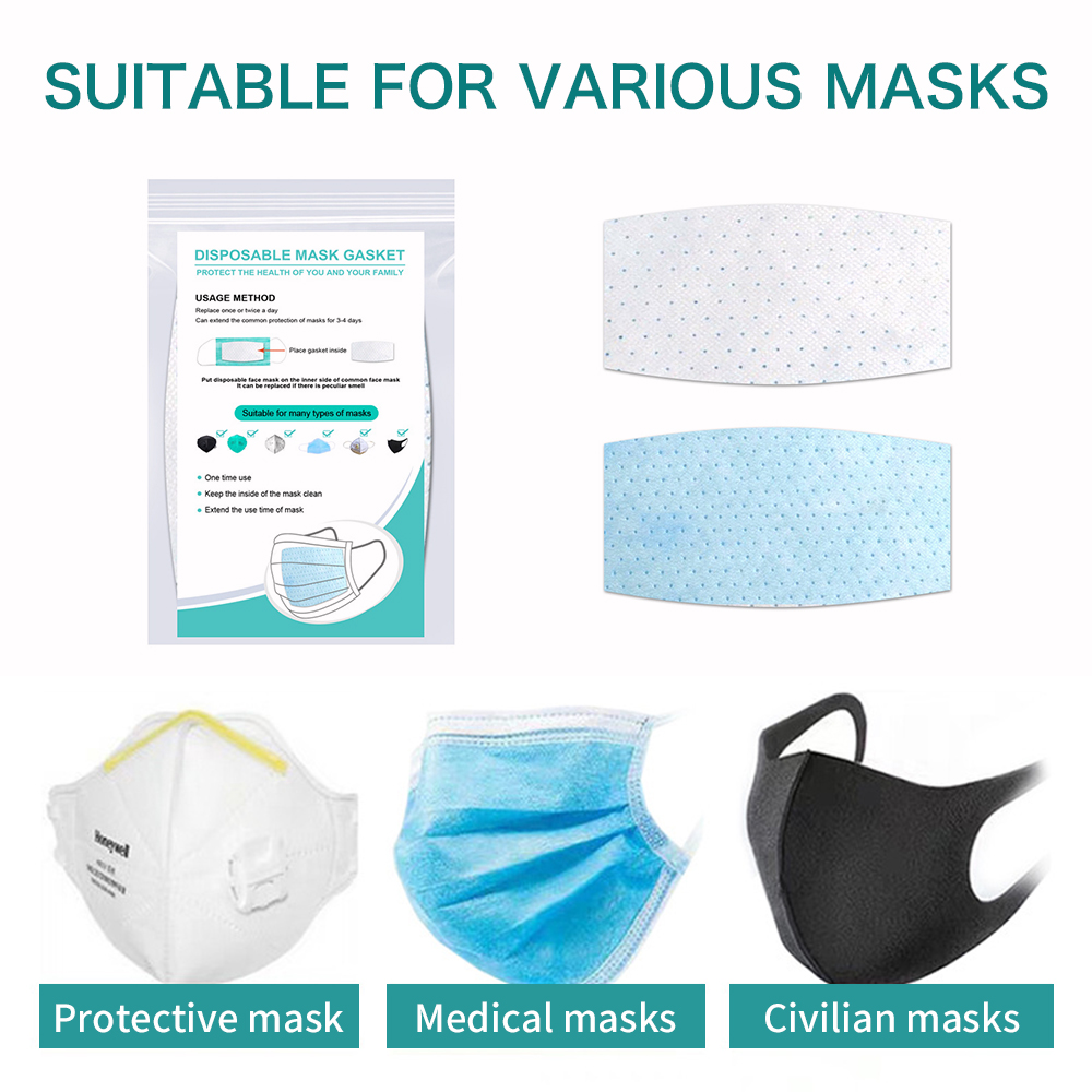 10Pcs Disposable Mask Pad For Mask Replacement Universal Protective Breathable Pad Safe Filter Protection Mat Health Care Masket