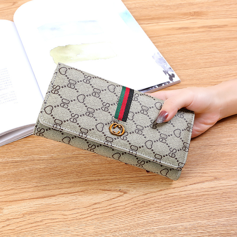 LADY'S Wallet Famous Brand Designer Women's Purse Long Zipper PU Leather Clip Large Capacity Mobile Wallet Personal Handbag