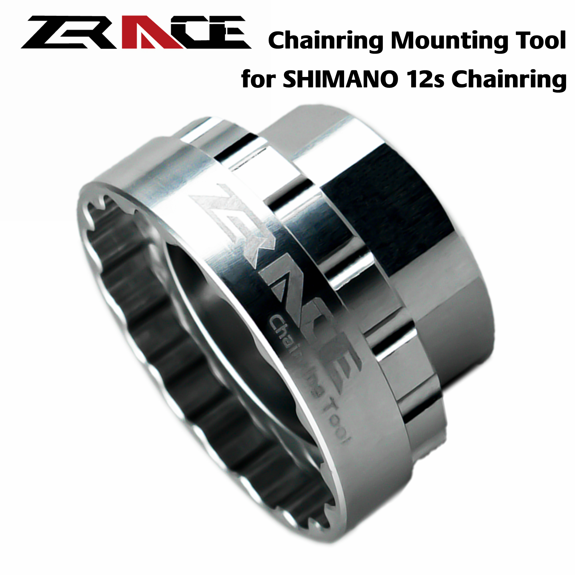 ZRACE Shimano 12s Chainrings Mounting Tool For SM-CRM95 / SM-CRM85 / SM-CRM75, TL-FC41 / FC41,Direct Mount Repair Tool Crankset