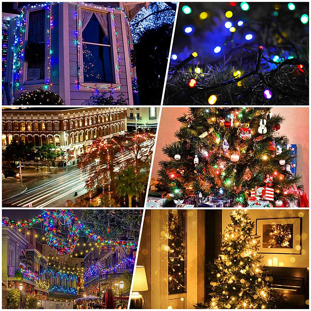 Solar Powered Led String Fairy Light 100 LED Solar Garland Christmas Light Outdoor Garden Decoration Fence Patio Xmas Party Lamp