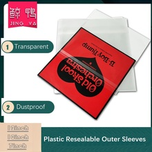50PCS OPP Plastic Resealable Outer Sleeves for 12'' Single LP 12inch Gatefold Envelope 10inch 7inch Vinyl Record