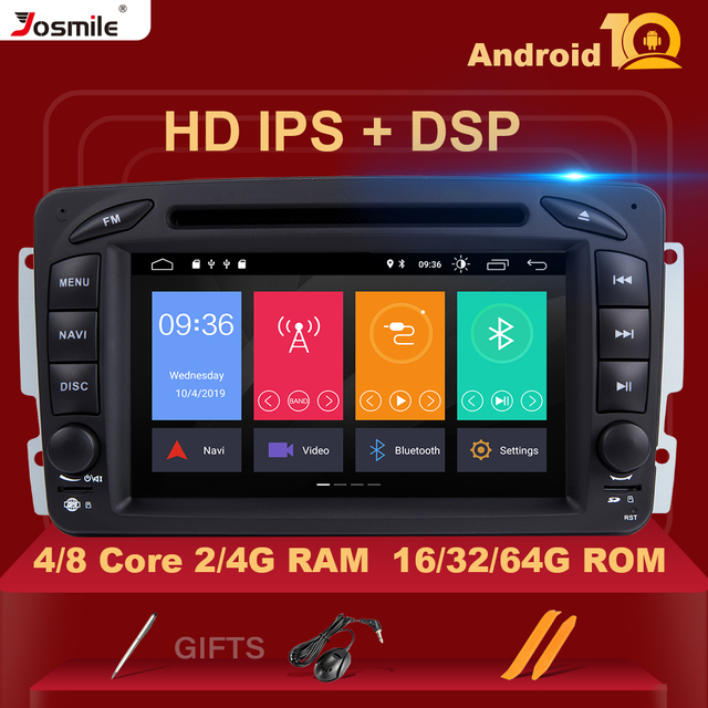 2 Din Android 10 Car Multimedia Player For W203 Mercedes Benz Vito W639 W168 Vaneo Clk W209 W210 M/MLRadio Audio Navigation DVD