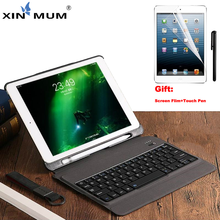 XIN-MUM Wireless Keyboard Case For iPad Air/Air 2/Pro 9.7 2017 Bluetooth Keyboard 7 Led Colors Case Cover for iPad Pro 9.7 inch keyboard case for ipad 9 7 2017 2018 air 2 pro 9 7 cover for ipad mini 4 5 7 9 shell for ipad air 3 2019 pro 10 5 case keyboard