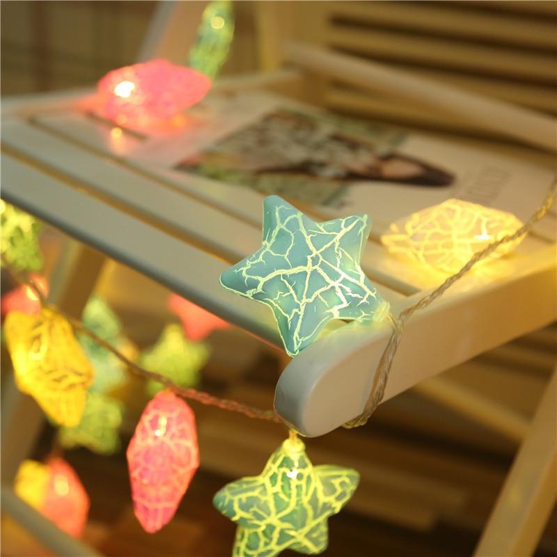 10/20 LED Fairy Star String Lights 1.5m 3m Led Garland Lights Christmas Lantern Outdoor Garden Wedding Decoration  Holiday II
