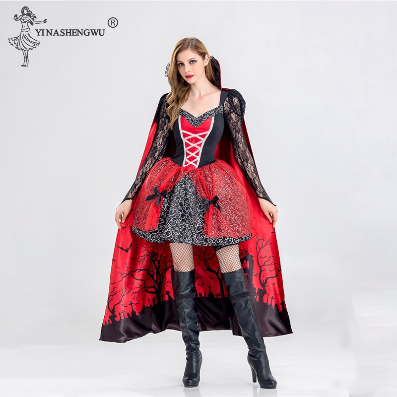 Witch Costume Halloween Costume Witch Costume For Women Fancy Adult Cosplay Fantasia Carnival Fairy Tale Patry Girl Dress