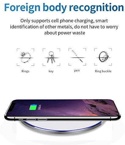 Image 5 - QI Wireless Charger,10W Max Wireless Charging Pad Compatible with iPhone 11/11 Pro/11 Pro Max/XS MAX/XR/XS/X/8, SWireless Chargers   -