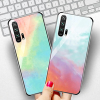 silicone case Tempered Glass Case For Huawei honor 20 9 10 lite Cases Space Silicone Covers for Huawei honor 20 pro 10 9 V20 back cover (2)