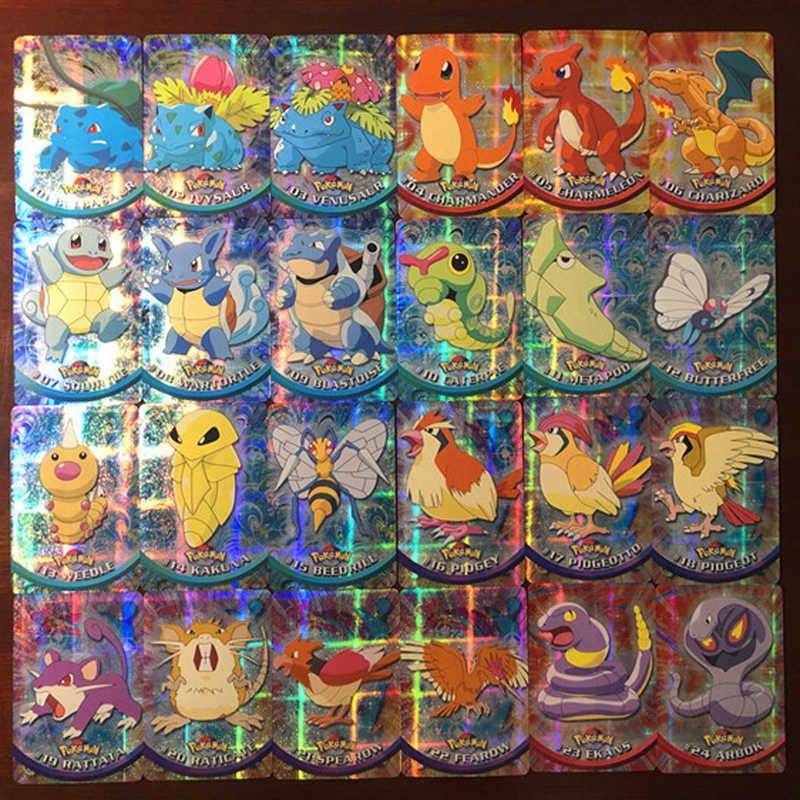 46 Cái/bộ Pokemon Bản Sao Flash Thẻ Lô Hàng Đầu Tiên Chiến Đấu Bộ Sưu Tập Thẻ Đồ Chơi Trẻ Em Quà Tặng