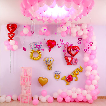 Latex Foil Balloon Accessories Valentine Engagement Wedding Supply Grand Event Girl Birthday Party Love Ballon Decoration qt10 image