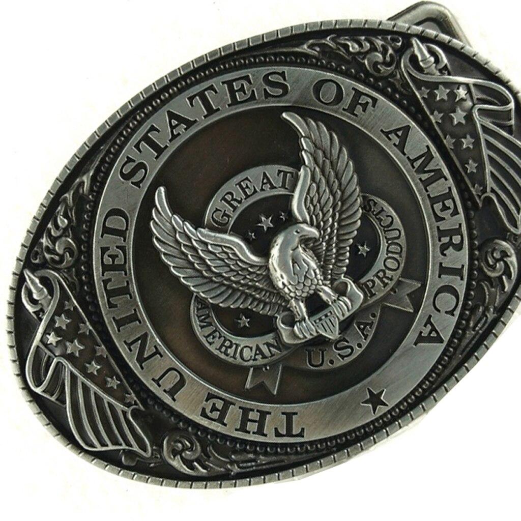 COOL Man Belt Buckle Eagle Western Belt Buckle, Waist Belt Buckle Accessories - 9 X 6.6cm