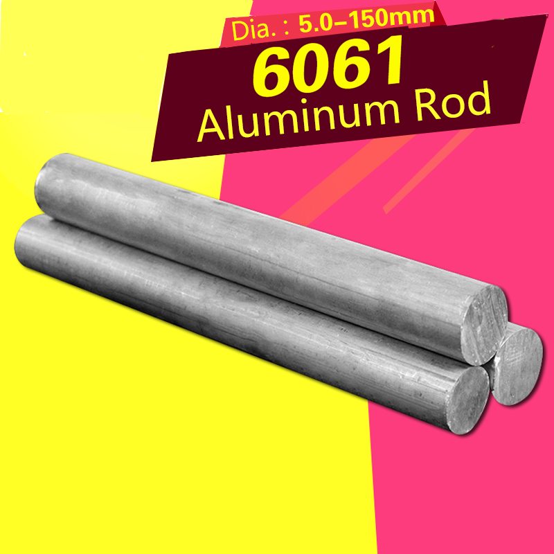 Solid Aluminum Alloy Rod 6061 Hard Aluminum Round Rod Diameter 5/6/8/10/14/15mm Rod Processing