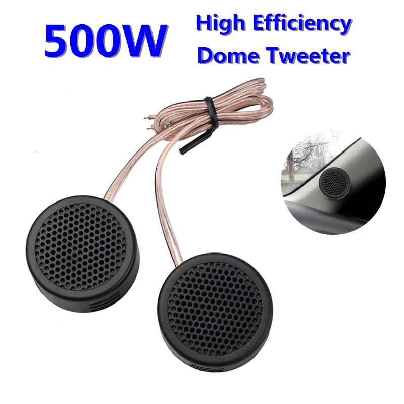 2pcs Mini Car Speaker Tweeter High Eficiency Car Column Speaker Universal 500W Automtive Sound Audio Acoustic Loudspeak